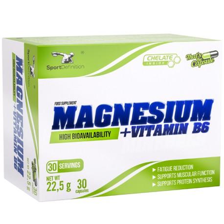 SPORT DEFINITION MAGNESIUM PLUS VIT B6 30 KAPS