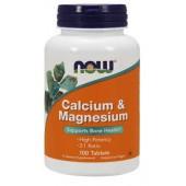 NOW FOODS CALCIUM MAGNESIUM 100 TAB