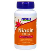 NOW NIACIN 500MCG 100 CAPS