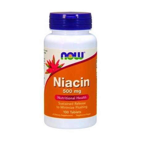 NOW NIACIN 500MCG 100 CAPS